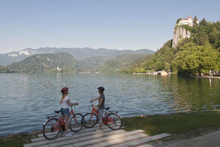 cycling at Lake Bled Slovenia