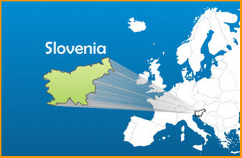 map showing location of Slovenia in Europe