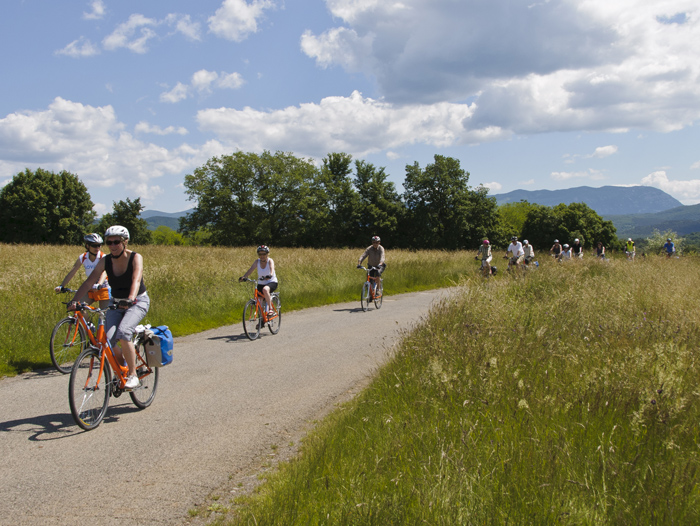 cycling from Ljubljana to Slovene coast in a group