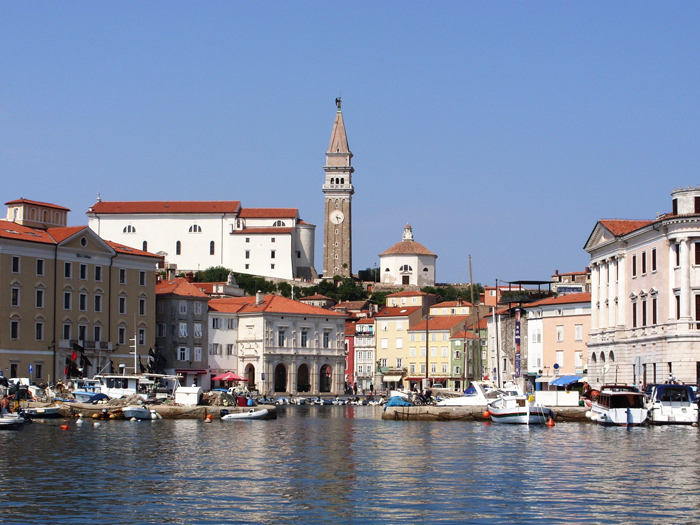 catedral above town of Piran